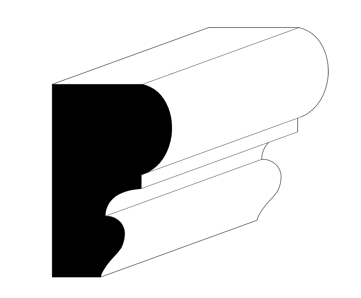 "1-1/16"" x 1-3/4"" Chair Rail Moulding"