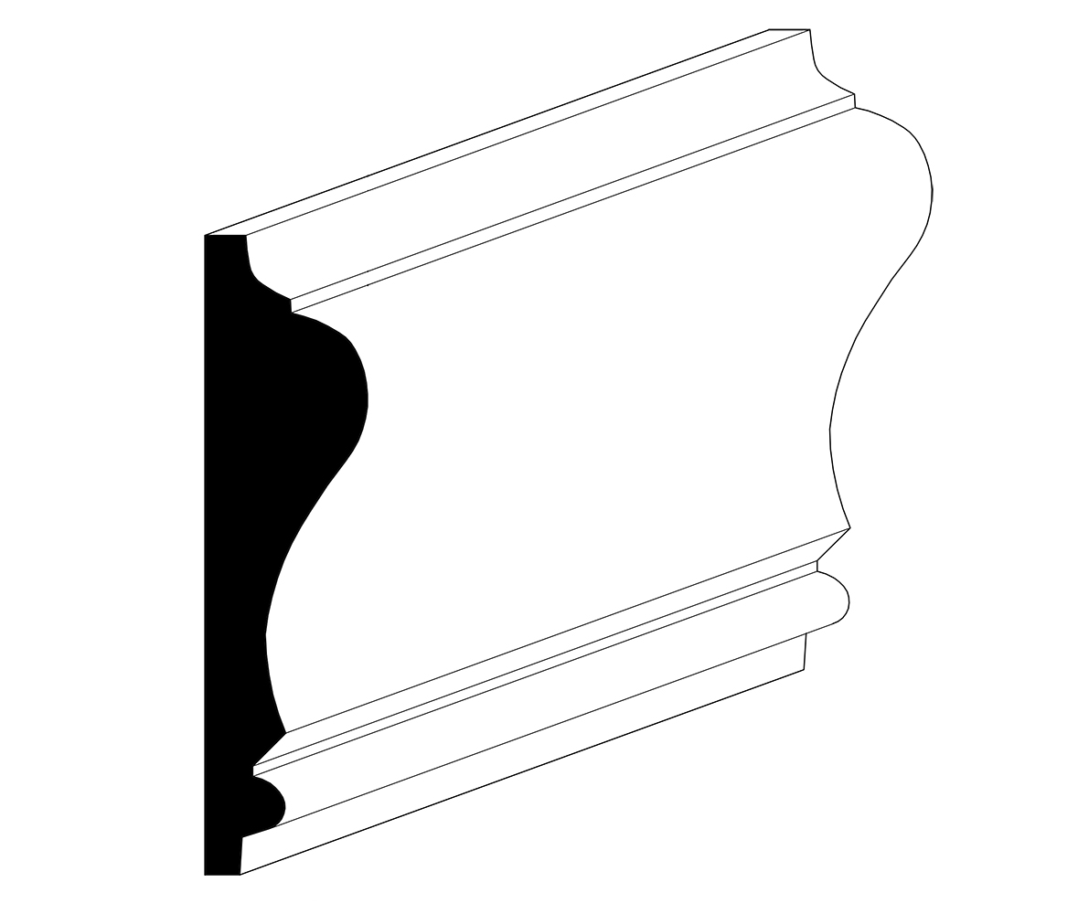 "11/16"" x 2-11/16"" Chair Rail"